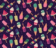 Ice cream and confettis