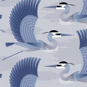 Heron - blue