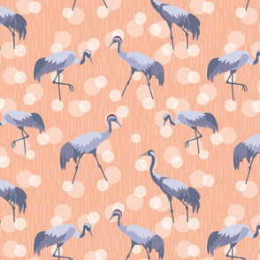 Morning at the Swamp, Cranes