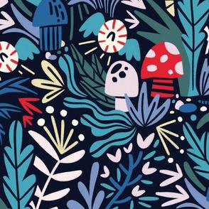 Hallucinatory tropical garden