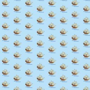 Mayflower Desendant on blue