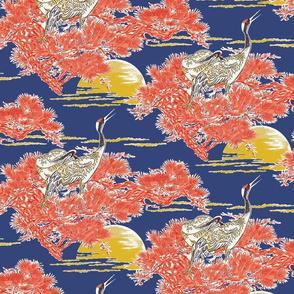 Japanese Cranes at Dawn