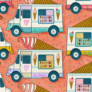 ice cream trucks - terra cotta