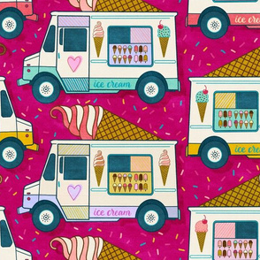 ice cream trucks - raspberry