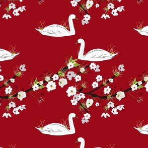Sakura Swan - Rich Red