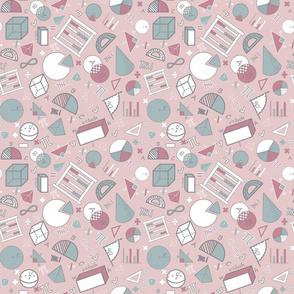 Math on Pink small print