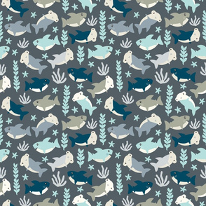 Cute shark pattern