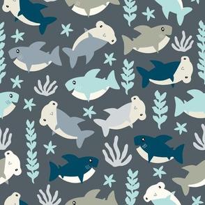 Cute shark pattern