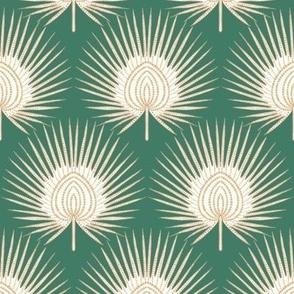 """Artdeco Fan Palms (green) 12"""""""