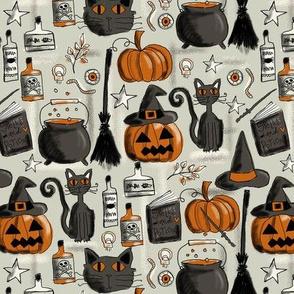 vintage halloween D