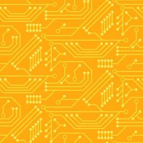 Robot coordinates - circuit board - yellow