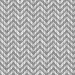 Vintage Gray Chevron Pattern (Mini Scale)