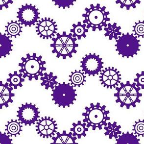 Robot coordinates - cog chevron - purple & white
