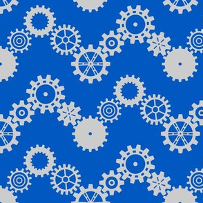 Robot coordinates - cog chevron - blue & grey