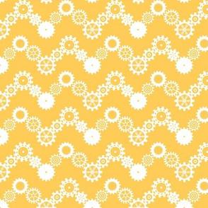 Robot coordinates - cog chevron - yellow & white