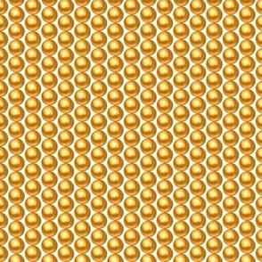 Tiny small gold pearls shiny rows retro 20s Wallpaper Fabric