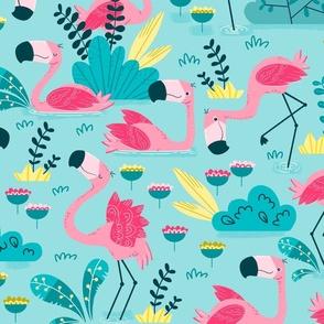 Flamingos bay