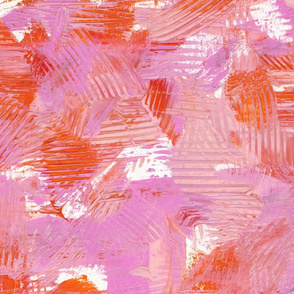 Abstract Painterly Bright Bold Contrast // Orange Lavender Red Purple