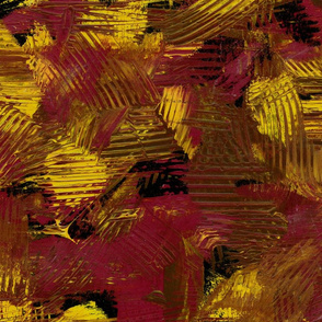 Ketchup & Mustard // Abstract Painterly Bright Bold Contrast