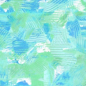 Ocean Mist Abstract Painterly Bright Bold Contrast