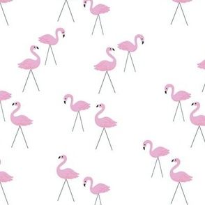 Retro Lawn Pink Flamingos