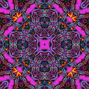 """Pink & Purple Crazy Tiles / Squares.  18"""""""
