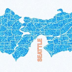 Seattle Map Tea Towel or Tapestry