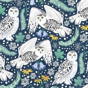 Snowy Owls on a Snowy Eve