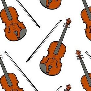 violin - white