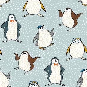 penguins shminguins grey