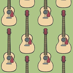 acoustic guitar - green