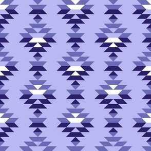 Ocean blue dots and blocks large scale organic shapes Wallpaper Fabric