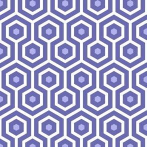 Ocean Blue dots large scale organic Wallpaper Fabric