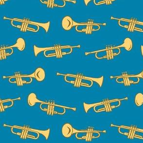 trumpets - blue