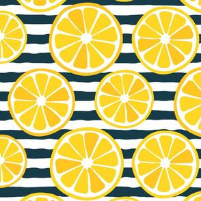 Lemon and stripes