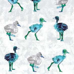 Big Bird Babies in Blue Hues