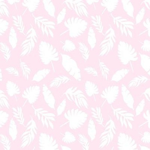 pink and white palm leaf