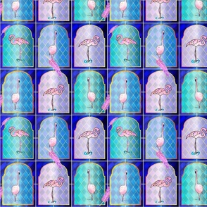 Flamingoes in the Windows