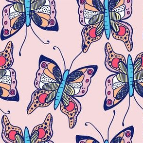 A DifferentButterfly - Pink + Navy