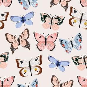 Butterflies - neutrals