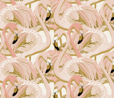 golden flamingo linen