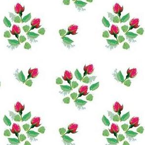Vintage style rosebuds print (large)