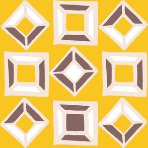 Yellow & Burgundy Stones
