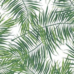 Watercolor Tropical Green