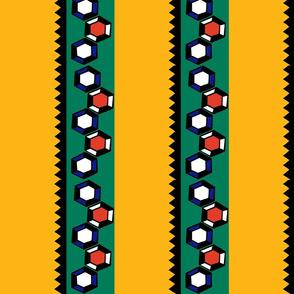 Geo Stripes on Yellow
