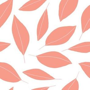 Modern Leaves (Coral)