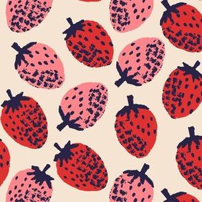 Strawberries ~ Poppy & Pink