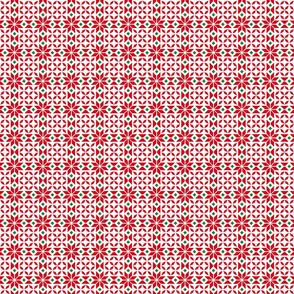 24023 Snowflakes on White