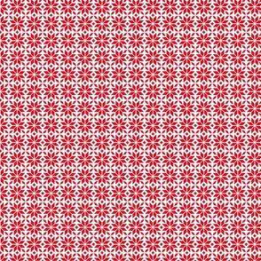 24023 Red Snowflake Pattern
