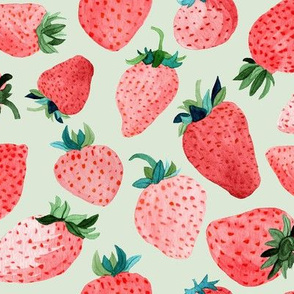 Sage Strawberries by Angel Gerardo - Large Scale